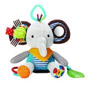 TOYMYTOY Infant Baby Toys Multi-functional Baby Kids Animal Plush Elephant Rattle for Pushchair Pram Car Seat Baby Crib
