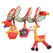 TOYMYTOY Spiral Stroller Toys,Crib Hanging Rattles Car Seat Toy with Ringing Bell