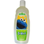 Sesame Street Childrens 470ml Extra Sensitive 3-in-1 Body Wash, Shampoo, & Conditioner