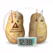 Potato Powered Digital Clock - Scientific Educational Kids Fun Novelty Toy Game