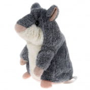 APUPPY Mimicry Pet Talking Hamster Repeats What You Say Plush Animal Toy Electronic Hamster Mouse for Boy and Girl Gift,7.6cm x 14cm