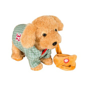 Electronic Simulation Toy Remote Control Electronic Pet-Green/Plaid