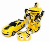 Toy Transformer Car to Robot with USB Rechargeable Batteries and Lights and Realistic Engine Sounds . Bumblebee Transformer