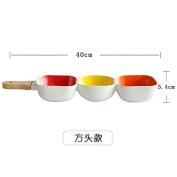 Salad Bowls Serving Bowls Ceramic Bowl With Handle Fruit Salad Bowl,Square Section