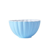 Salad Bowls Serving Bowls Porcelain Shell Pattern Salad Bowl Soup Fruit Bowl,Blue