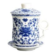 Blue And White Porcelain Tea Set
