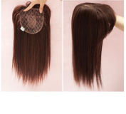 BESTLEE 36cm Synthetic Hair Mono Hair Topper for Hair Loss Clip in Hair Top Piece with Air Bangs