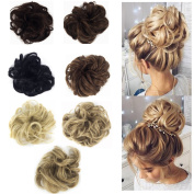 FUT Ladies Synthetic Wavy Curly or Messy Dish Hair Bun Extension Hairpiece Scrunchie Chignon Tray Ponytail 7 Colour Each pack