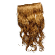 5 Clips 50cm Long Synthetic HAIR EXTENSION Curly Full head Blonde Colour New