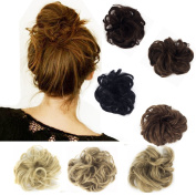 FUT BUN Up Do Hair Piece Hair Ribbon Ponytail Extensions Draw String Scrunchy Scrunchie Curly or Messy Different Colours light brown
