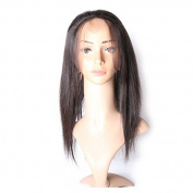 Ali Queen Hair Pre Plucked 360 Full Lace Frontal Closure With Baby Hair 100% Brazilian Virgin Human Hair Straight Natural Colour.46cm .