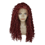 BeautyGal Deep Curly Lace Front Hair Wigs High Density Fluffy Curl Synthetic Wig With Baby hair