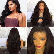 Full Lace Wigs Virgin Human Hair Wig Glueless Lace Front Free Part Natural Black 200% Density wigs for African American Women