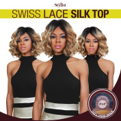 The Stylist Synthetic Lace Front Wig Swiss Lace Silk Top Curly Bob