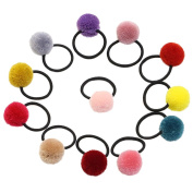 TS Cute Girls Rabbit Ear Hair Tie Bands Ropes Ponytail Holder