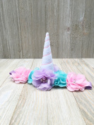 Pastel Unicorn flower headband