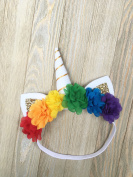 Rainbow headband - baby unicorn headband