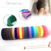 Botrong Hair Ties, Random Colour 50Pcs Women Girls Hair Band Rope Ring Elastic Hairband Ponytail Holder