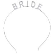Lux Accessories Silver Tone Bride Bridal Bachelorette Verbiage Crown Headband