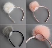 3pcs/lot Cute Fashion Girls Headband Big Single Pompom Fur Ball Hairband