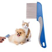 JD Million shop Pet Hair Trimmer Comb Dog Cat Grooming Dressed Hair dog Combs Stainless Steel Pins Cleaning Brush Massage Comb for Pets