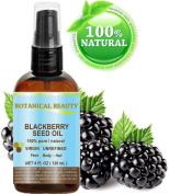 """BLACKBERRY SEED OIL 100% Pure / Natural / Virgin/ Unrefined. Cold Pressed / Undiluted Carrier Oil. 4 fl.oz -120 ml. """"""""One of the richest natural sources of vitamin C and a remarkable and stable source of omega 3 and 6, vitamins E and minerals. Strong A .."""