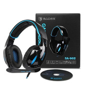 Brand New SADES SA902 Gaming Headset 7.1 Virtual surround Stereo Sound Over Ear Gaming Headphones Wired USB LED Light With Mic Volume Control For PC/ Laptop