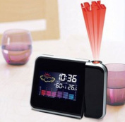 Projection Clock - Projection Alarm Clock With Weather Station - UK Mains Adapter Included - By ThinkGizmos