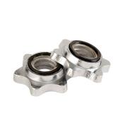 YORK 2.5cm Spinlock collars Pair Unisex Adult Weights 2.5cm