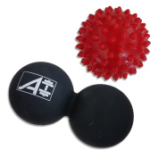 Special Launch Price - Peanut Lacrosse Ball - Massage Ball For Trigger Point Therapy And Myofascial Release, With Free Spiky Ball