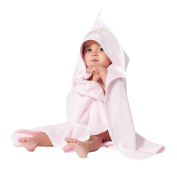 Bath Towel with Embroidered Hood - Double Sided - Organic Cotton - Extra Fleece - Large 100 x 100 cm