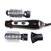 MZP Multi-function triple burner hair dryer curling hair comb fan co-use , silver white rules