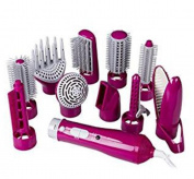 MZP 10in1 Multi Hot Air Styler Hair Brush Comb Dryer for Straighting Curling Hair £¨Multicolor optional£© , Pink