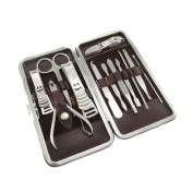 Brand New High Quality 12PCS Manicure Pedicure Set Personal Travel Grooming Tool Kit Nail Clipper Care