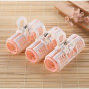 Yousha 3Pcs Women Ladies Plastic Hair Rollers Clips DIY Home Hairdressing Curlers Small