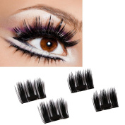 OverDose Magnetic Eye Lashes 3D Reusable False Magnet Eyelashes Extension Ultra-thin 0.2mm 1Pair of 4PCS