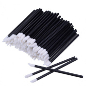 Cheap4uk 50pcs Disposable Lipbrush Lipstick Gloss Wands Applicator Makeup Tool Kits
