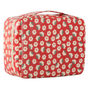 HOYOFO Waterproof Travel Make-up Pouch Toiletry Wash Organiser Portable Cosmetic Bag Hand Bag Tool Storage Toiletry,Flower