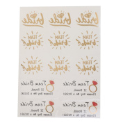 MagiDeal Bachelorette Party Waterproof Temporary Flash Tattoo Stickers Red diamond