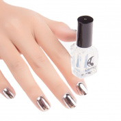 Familizo Mirror Nail Polish Plating Silver Paste Metal Colour Mirror Silver - Base Coat (Get One)