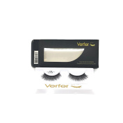 VERFER professional false eyelashes made of high quality synthetic material with natural 3D effect volume, TRANSPARENT ROOT (1 pair)