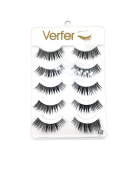 VERFER Eyelashes made by hand, part of lightweight transparent strip, with effect for strong make-up