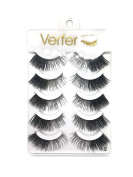 VERFER Eyelashes made by hand, part of STRIP fibre SOFT BLACK colour, WITH EFFECT FOR STRONG MAKEUP
