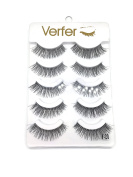 VERFER Handmade false eyelashes NATURAL SERIES, PART OF TRANSPARENT and SOFT STRIP, WITH NATURAL EFFECT
