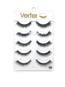 VERFER Handmade false eyelashes NATURAL SERIES, PART OF STRIP SOFT BLACK fibre, WITH NATURAL EFFECT