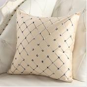 LanLan Pillows Sofa Bed Decor Multicoloured Plaids Pillow Case Back of a chair