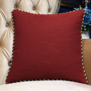 More colours/ simple-style pillow/Feather wool cushion/sofa/bedside solid colour pillowcase -A 45x45cm(18x18inch)VersionB