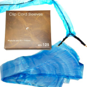 125 Tattoo Clip Cord Disposable Individual Cover Bags Clean Barrier Supply 5.1cm x 110cm