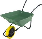 Walsall Wheelbarrows 90 Litres Shire Poly Puncture Proof Wheelbarrow - Green