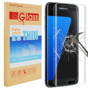 Galaxy S7 Screen Protector, Kany 3D Ultra Thin 0.25mm Ultra 9 HD Clear Curved Tempered Glass Full Coverage Screen Protector Film for Samsung Galaxy S7
